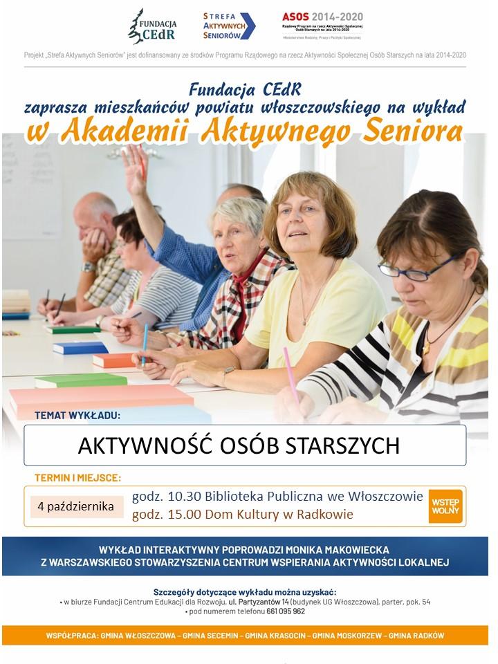plakat wykład Włoszczowa i Radków